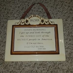 AWESOME WORK LIFE GOALS wall plaque